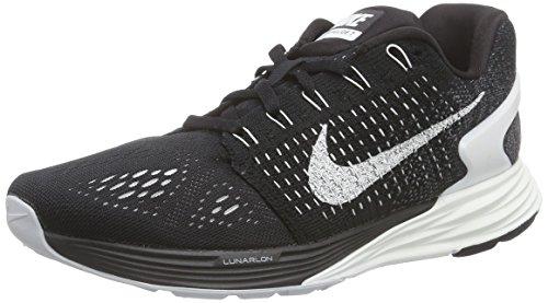Womens Nike LunarGlide 7 Running Shoe Black/Anthracite/Wolf Grey/Summit White Size 8 M US