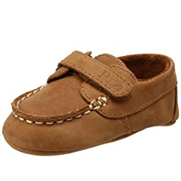 Ralph Lauren Layette Captain EZ Crib Shoe (Infant/Toddler),Tan,0 M US Infant