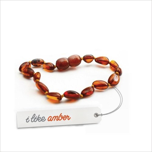 Amber Teething Anklet Bracelet - size from 13 to 16 cm - 100% Genuine Baltic Amber - Top Quality on Amazon + Free Organza Gift Bag - Baby Child