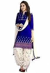 Fashion Dream Womens Cotton Dress material ( Banno blue_Blue_Freesize )