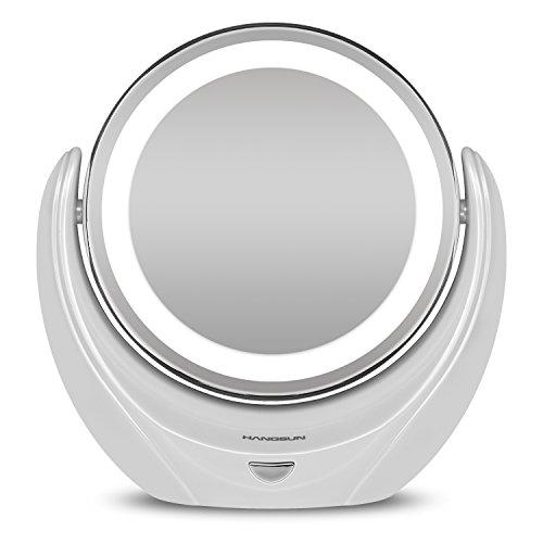 Hangsun-Espejo-Maquillaje-Con-Luz-B99-Espejo-Aumento-5X-LED-Espejos-Bao-y-Cosmtico-y-Afeitar-Doble-Cara
