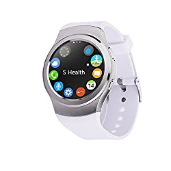 Bingo C4 WHITE Sim Support Absolute Disc Touch With Android & IOS Support Smartwatch with Extra USB LED free