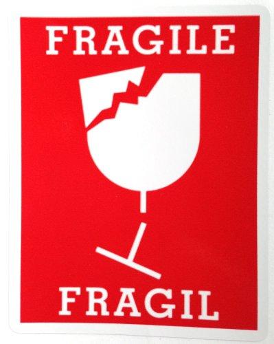 ステッカー FRAGILE 大 取扱注意 こわれもの 防水紙 シール~ スーツケース ドレスアップに