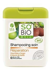 So'Bio Étic Shampooing Soin Réparateur Céramides d'Argan 250 ml Lot de 2