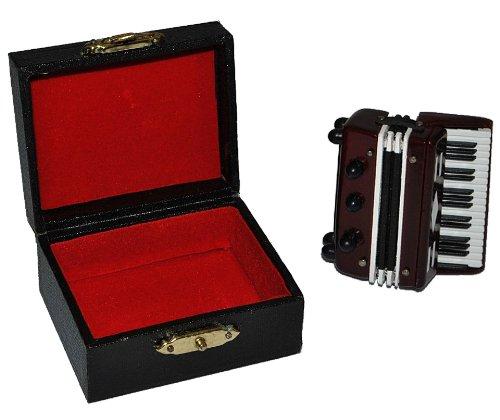 Akkordeon mit Kasten - Holz Miniatur Maßstab