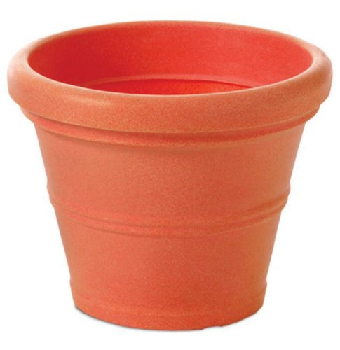 Tusco Products T30 Rolled Rim Pot Round Terra Cotta 30