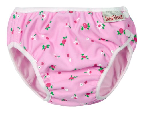 Imse Vimse Swim Diapers - Junior - Pink And White Flowers