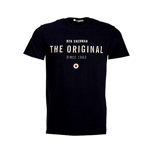 t-shirt-ben-sherman-the-original-print-tee-black-gr-m-schwarz-schwarz
