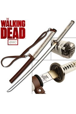 Walking Dead MC-WD001P Officially Licensed Samurai Sword with Leather-Wrapped Handle, Wood Scabbard, 40-1/2-Inch Overall