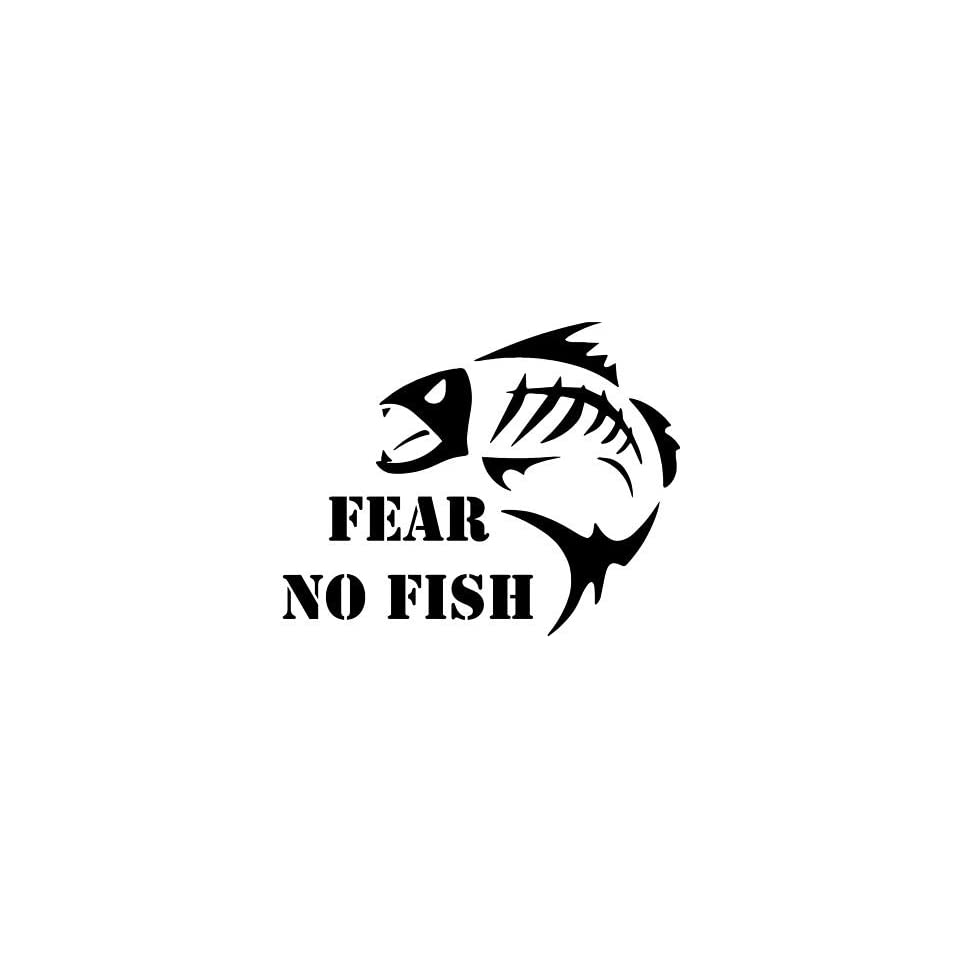 Fear no fish vinyl decal mean fish fishing on popscreen for Fear no fish