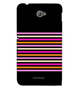 Horizontal Pattern 3D Hard Polycarbonate Designer Back Case Cover for Sony Xperia E4 Dual :: Sony Xperia E4