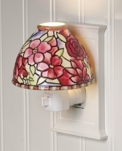 "4"" Camellia Flower Antique-Style Lamp Shade Night Light front-445149"