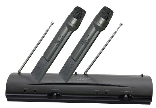 Pyle-Pro PDWM2100 Professional Dual VHF Wireless Handheld Microphone System