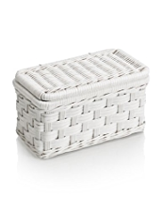 White Rattan Small Basket