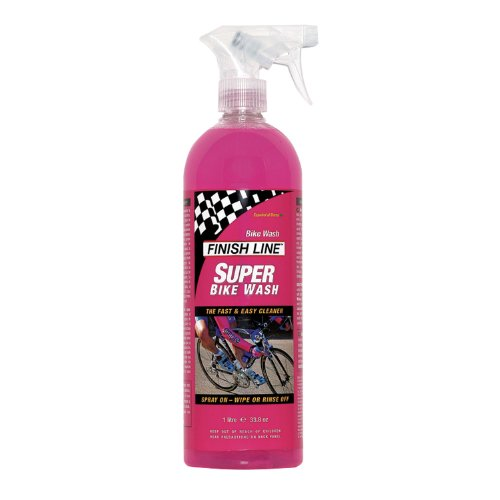 Finish Line Super Bike Wash Bicycle Cleaner, 1 Liter (33.8-Ounce) Spray Bottle