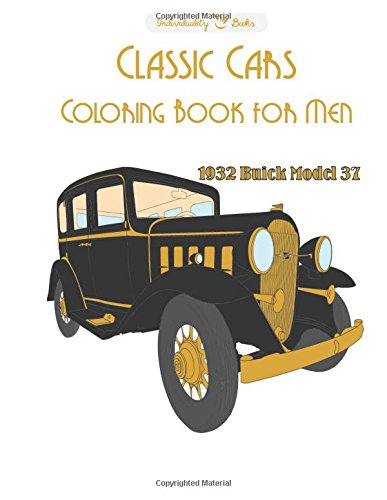 Classic Cars Coloring Book For Men