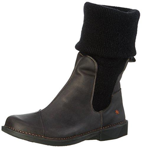 artBERGEN - Stivali a metà polpaccio con imbottitura leggera Donna , Nero (Nero (nero)), 38
