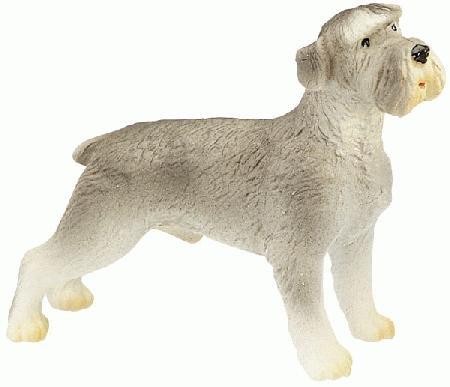 Bullyland Schnauzer Plastic Toy Dog Figure