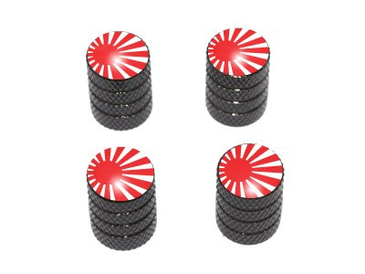 Japan Flag - Rising Sun Tire Rim Valve Stem Caps - Black cosplay durotan 22cm 8 7 boxed gk garage kits action figures toys model