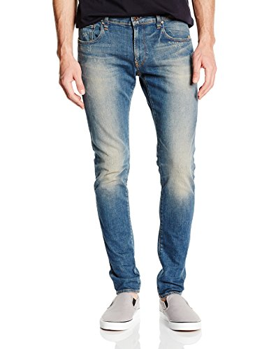G-Star - Defend Super Slim  - Wils stretch denim, Jeans da uomo, blu (blau  (dk aged 89)), 42/44 IT (29W/32L)