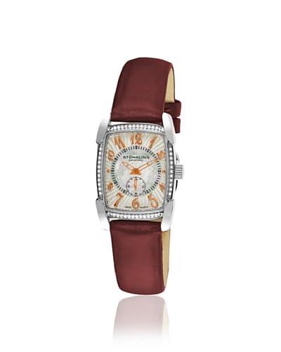 Stuhrling Women's 163A.121A2 Carnegie Rose Vogue Burgundy/Silver Watch