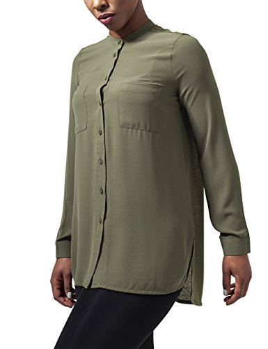 Urban Classics Ladies Hilo Chiffon Blouse, Camicia Donna, Grün (Lightolive 729), 42