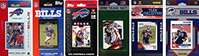 NFL Buffalo Bills Six Different Licensed Trading Card Team Sets