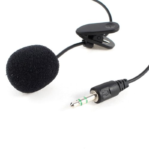 Black 3.5Mm Jack Microphone Mic 1.5M Cable For Notebook Laptop