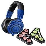 Audio Technica ATH-M50BB Blue Monitor Headphones w/Novation Dicer Controller