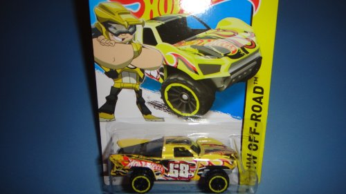 HOT WHEELS 2014 RELEASE YELLOW DRIVER TEAM HOT WHEELS BAJA TRUCK DIE-CAST, HOT WHEELS BAJA TRUCK OFF-ROAD DIE-CAST - 1