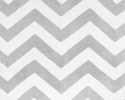 Accent Floor Rug for Turquoise and Gray Chevron Zig Zag Bedding Collection by Sweet Jojo Designs