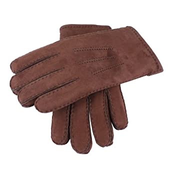 Dents Men's Lambskin Glove Chocolate Large