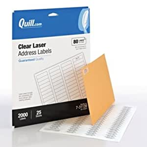 Amazonm  Quill Return Address Labels; Clear, 12x134. Grl Pwr Stickers. Music Inspired Murals. Business Card Logo. Pulmonary Diseases Signs. Castle Wall Banners. Photoshop Shape Banners. Spider Man Lettering. Special Educational Need Signs