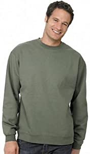 Hanes 7.8 oz COMFORTBLEND ECOSMART Fleece Crew P160, XL, Stonewashed Green
