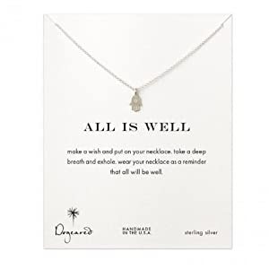 Dogeared All is Well Hamsa Necklace, Sterling Silver
