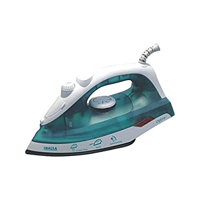 Inalsa Optra 1200-Watt Non-Stick Coating Steam Iron (White/Green)