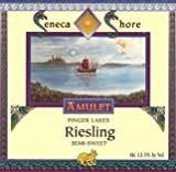 NV Seneca Shore Wine Cellars Riesling - Semi-Sweet (Blue Bottle), Finger Lakes Table Wine, 750 mL