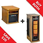 Duraflame Zone Heating Combo - Infrared Bristol & Tower Heaters - 9HM9126-O142-5HM7000-PO78