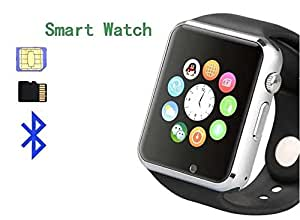 Pinglo A1 Bluetooth Smart Sim Bluetooth pedometer Wrist Watch Men Sport Watch - Silver