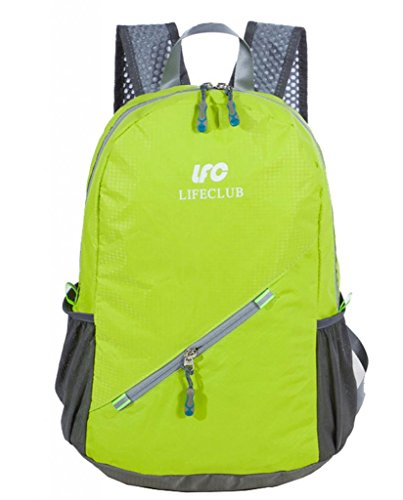 Zerd Packable Handy Lightweight Travel Backpack Daypack Light Green front-268069
