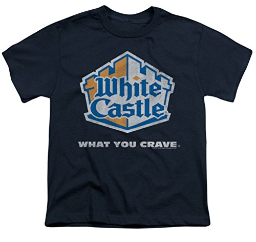 Youth: Distressed Logo White Castle T-Shirt WHT100YT