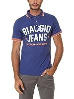 BIAGGIO Polo Bartolos (Azul / Naranja)