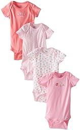 Gerber Baby Girls\' 4 Pack Variety Onesies Brand   Bird, Bird, 18 Months