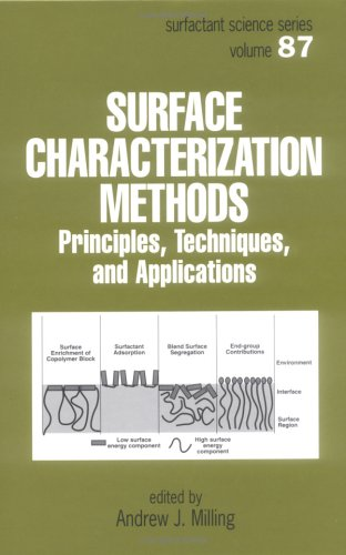 Surface Characterization Methods: Principles, Techniques, And Applications (Surfactant Science)