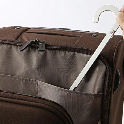 無印良品 携帯用アルミ折りたたみ式ハンガー 使用時:約幅38cm×3