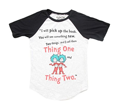 Dr. Seuss Two Things Thing 1 and Thing 2 Rules Juniors T-Shirt