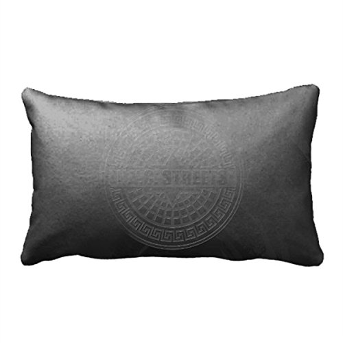 Square Throw Pillow Covers Big Apple City Cushion Pillow For Sofa