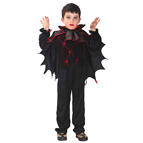 Little Boys Kids Halloween Bat Vampire Style Suit Costume [ Age 4-10 ]
