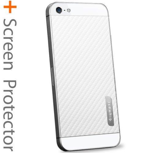 国内正規品SPIGEN SGP iPhone5/5S スキンガード [カーボン・ホワイト] SGP09569