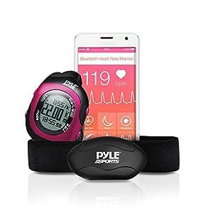 Pyle Cardiofréquencemètre Bluetooth Rose